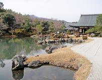 Japanischer Garten in Kyoto Lizenzfreie Stockfotos