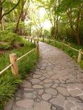 Japanischer Garten-Pfad Lizenzfreies Stockfoto