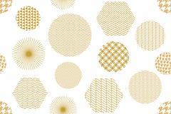 Japanischer goldener Druck mit Hexagonen Stockfoto