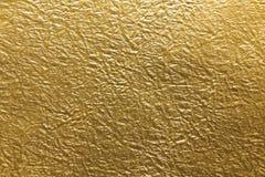 Japanischer Goldpapier-Beschaffenheitshintergrund Stockbild