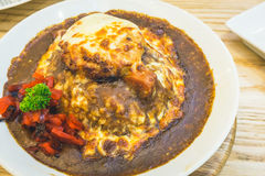 Japanischer Hamburger-Curry-Reis Stockbild