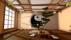 Japanischer Innenraum Stockfotografie