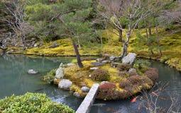 Japanischer Insel-Garten Lizenzfreies Stockfoto