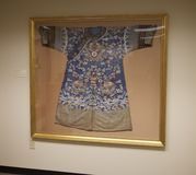Japanischer Kimono auf Anzeige am Belz-Museum Lizenzfreie Stockfotografie