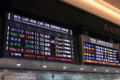 Japanischer Kugelzug Shinkansen Lizenzfreies Stockfoto