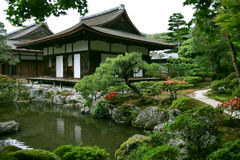 Japanischer Landschaftsgarten Lizenzfreie Stockfotos