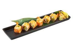 Japanischer maki Sushisatz Stockfoto