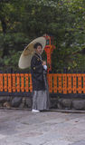 Japanischer Mann im traditionellen Kimono Lizenzfreies Stockbild