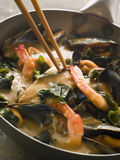 Japanischer Meerestier-und Wakame Meerespflanze-Curry Lizenzfreies Stockfoto