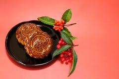 Japanischer Mondkuchen in der Festivalstimmung Lizenzfreies Stockbild