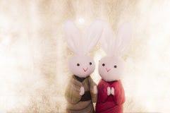 japanischer Papierhintergrund der Paare Kaninchen- und Lizenzfreies Stockbild