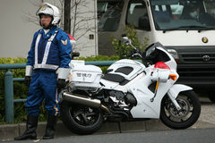 Japanischer Polizist Stockfotografie