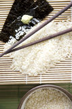 Japanischer Reis auf Hintergrund Stockfoto