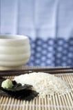 Japanischer Reis auf Matte Lizenzfreie Stockfotografie