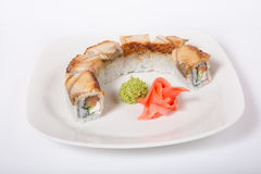Japanischer Reis rollt mit Aal Lizenzfreie Stockbilder
