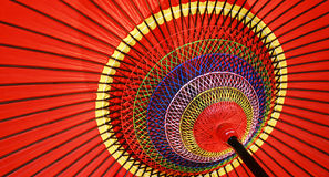 Japanischer roter Regenschirm Lizenzfreie Stockfotos