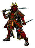 Japanischer Samuraikrieger Lizenzfreies Stockfoto