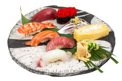 Japanischer Sashimisushisatz Lizenzfreies Stockfoto