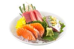 Japanischer Sashimisushisatz Stockfotos