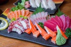Japanischer Sushisatz Stockfoto