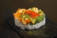 Japanischer Sushiweinstein stockbild