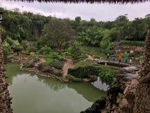 Japanischer Teegarten in San Antonio, Texas Stockfotografie