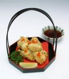Japanischer Teller von Fischen Stockbild