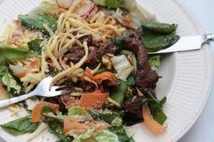 Japanischer teriyaki Salat Lizenzfreie Stockbilder