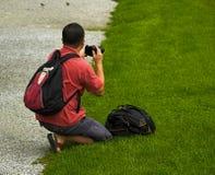 Japanischer touristischer Fotograf Stockfotografie