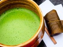 Japanischer traditioneller grüner Tee Stockfotografie