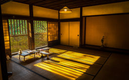 Japanischer traditioneller Raum stockbild