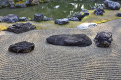 Japanischer trockener Landschaftsgarten Lizenzfreie Stockbilder