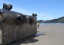 Japanischer Tsunami-Rückstand Stockbild