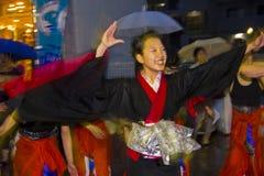 Japanischer weiblicher Tänzerfestival-Kimono Lizenzfreies Stockbild