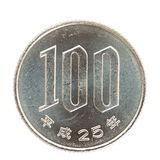 100-japanischer Yen-Münze Stockfoto