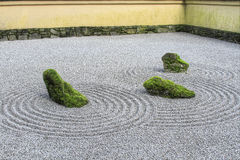 Japanischer Zen-Sand-Garten Lizenzfreie Stockfotografie