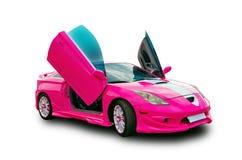 Japanisches abstimmendes Sportauto mit lambo Türen Weißer Hintergrund Lizenzfreie Stockfotos
