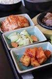 Japanisches Bento Mittagessen Kasten Schnellimbiß mit geräuchertem Aal und Gemüse Lizenzfreie Stockfotografie
