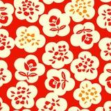 Japanisches Blumenmuster Stockfotos