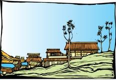 Japanisches Dorf vektor abbildung