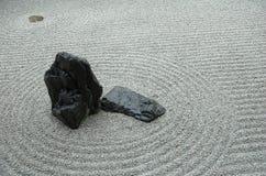 Japanisches Felsen-Gartendetail Stockbilder