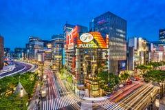 Japanisches Ginza stockfotografie