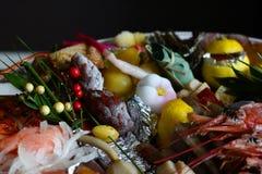 Japanisches Lebensmittel des neuen Jahres Stockbilder