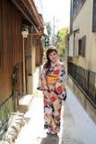 Japanisches Mädchen in Kyoto Lizenzfreie Stockfotos