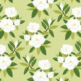 Japanisches Magnolienblumenmuster Lizenzfreie Stockfotos