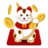 Japanisches maneki neko Lizenzfreies Stockfoto