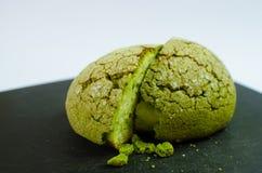 Japanisches matcha Melonenbrot Lizenzfreies Stockfoto