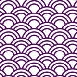 Japanisches Muster der nahtlosen Welle in weißem und in violettem vektor abbildung