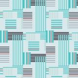 Japanisches Muster des blauen Streifens Stockbild