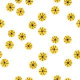 Japanisches nahtloses abstraktes gelbes Blumenmuster Lizenzfreie Stockfotografie
